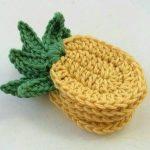 Ananaslı Bardak Altlığı