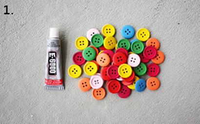 Düğmelerden Bardak Altlığı Yapma Malzemeleri