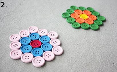 Düğmelerle Bardak Altlığı Yapımı