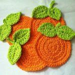 Portakallı Bardak Altlığı