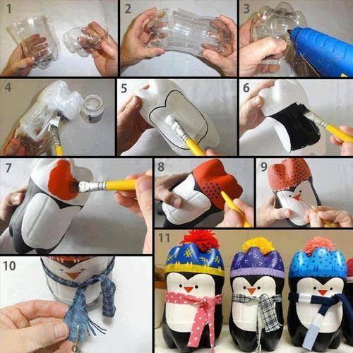 Pet Şişeden Penguen Yapımı