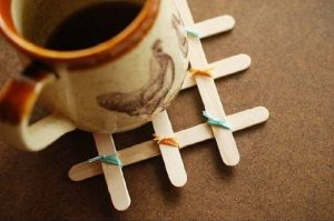 Dondurma Çubuğu ile Bardak Altlığı Yapımı-1