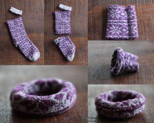 Eski Çoraptan Bileklik Yapımı