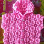 Çiçekli Kız Bebek Yeleği