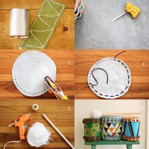Çocuklar için Oyuncak Davul Yapımı Resimli Anlatım