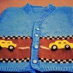 Arabalı Erkek Bebek Yeleği