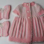İki Renkli Kız Bebek Yeleği