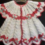 Kırmızı Beyaz Kız Bebek Yeleği