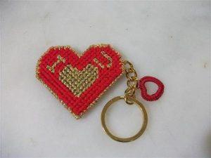 Kırmızı Kalpli Anahtarlık