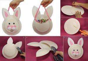 Kağıt Tabaktan Tavşan Yapımı Resimli Anlatım