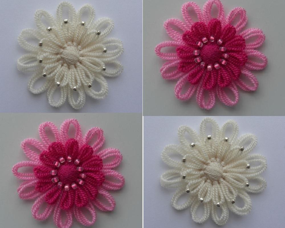 Motif Makinesi ile Çiçek Yapımı