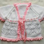 Pembe Beyaz Kız Bebek Yeleği