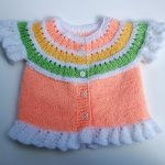 Renkli Kız Bebek Yeleği