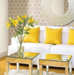 sarı-dekorasyon