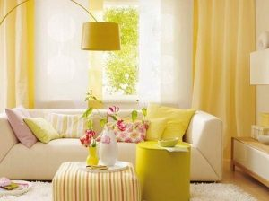 sarı-salon-dekorasyonu