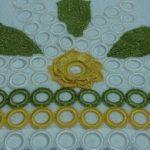 Sarı Yeşil Halkalı Havlu Kenarı