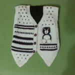Siyah Beyaz Erkek Bebek Yeleği