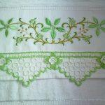 Yeşil Çeyizlik Halkalı Havlu Kenarı