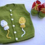 Yeşil Erkek Bebek Yeleği
