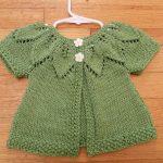 Yeşil Kız Bebek Yeleği