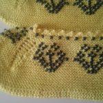 Boncuklu Sarı Patik
