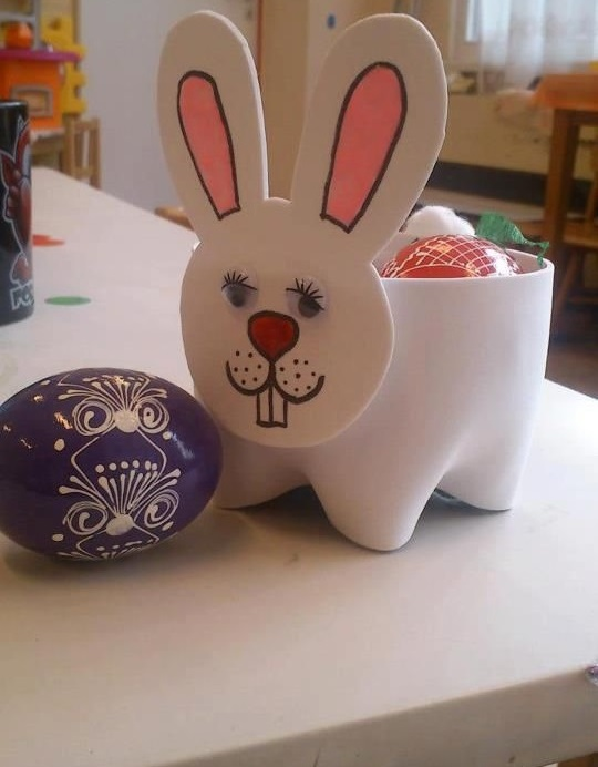 Pet Şişeden Tavşan Yapımı