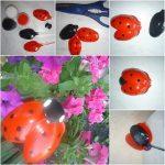 Plastik Kaşıktan Uğur Böceği Yapımı