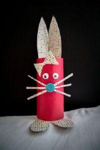 Tuvalet Kağıdı Rulosundan Tavşan