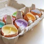 Yumurta Kabuğundan Renkli Mumluk