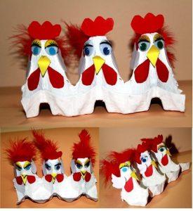 Yumurta Kolisinden Tavuk Yapımı