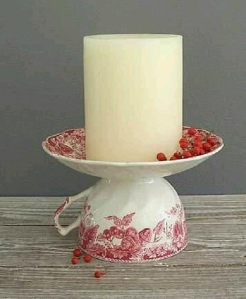 Çay Fincanı ile Dekoratif Mumluk Yapımı
