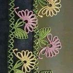 Çiçekli Tülbent Kenarı Örneği