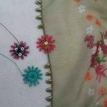 Çiçekli Tülbent Oyaları