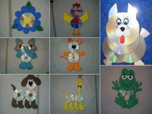 Cd'den Çocuk Odasına Dekoratif Süs Yapımı