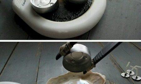 Deniz Kabuğundan Mumluk Yapımı