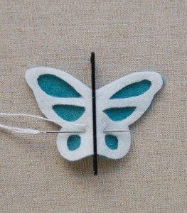 Keçeden Kelebek Yapımı-2