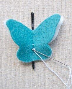 Keçeden Kelebek Yapımı-3