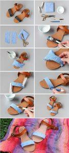 Kumaş ile Sandalet Yenileme