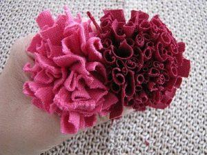 Kumaştan Ponpon Yapımı Resimli Anlatım-9