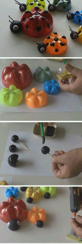 Pet Şişeden Uğur Böceği Yapımı