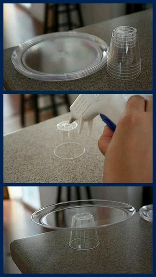 Plastik Bardaktan Ayaklı Servis Kasesi Yapımı