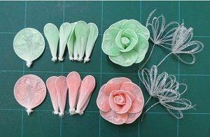 Poşetten Çiçek Yapımı Resimli Anlatım-3