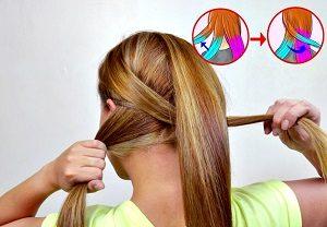 Balık Kılçığı Saç Örgüsü Yapımı Resimli Anlatım-2