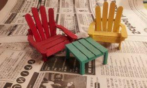 Dondurma Çubuklarından Minyatür Masa Sandalye Yapımı