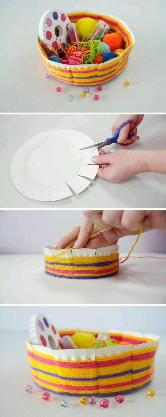 Kağıt Tabaktan Kase Yapımı