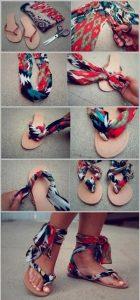 Kumaş ile Sandalet Nasıl Yenilenir