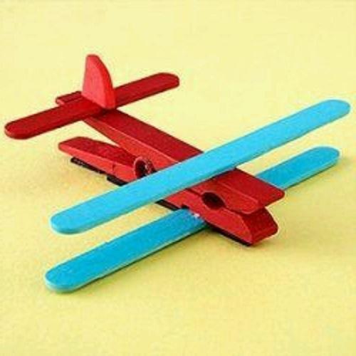 Mandal ve Dondurma Çubuğundan Uçak Yapımı
