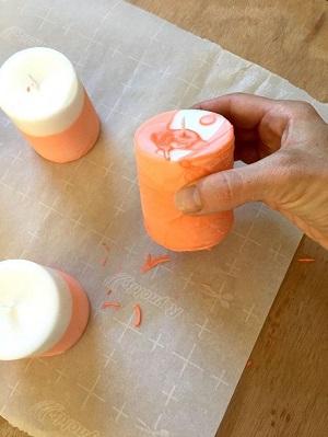 Pastel Boya ile İki Renkli Mum Yapımı Resimli Anlatım-5
