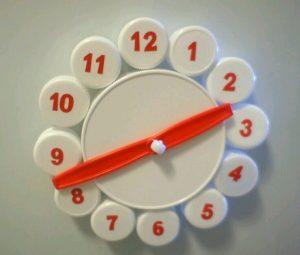 Plastik Kapaklardan Oyuncak Saat Yapımı