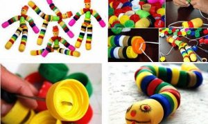 Plastik Kapaklardan Oyuncak Yapımı